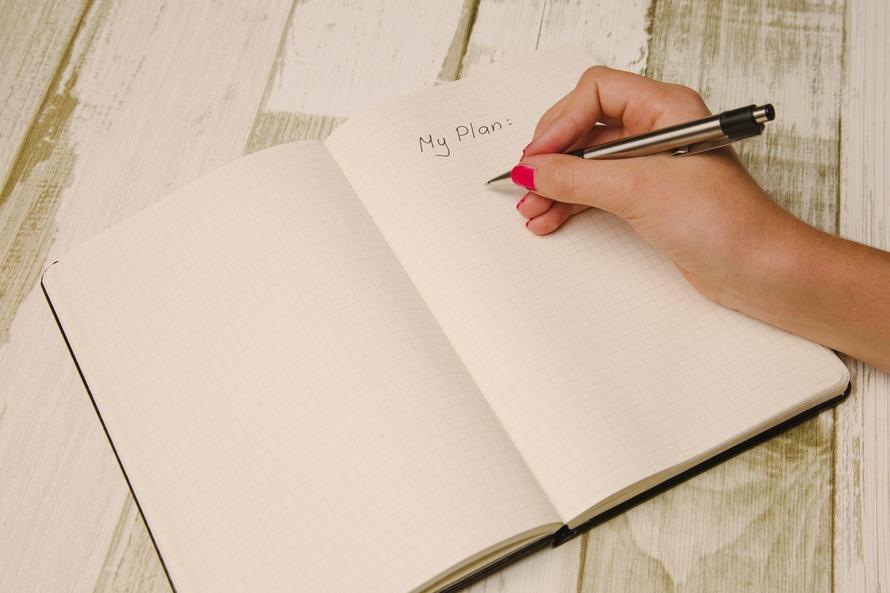notebook, coach, plan, schedule