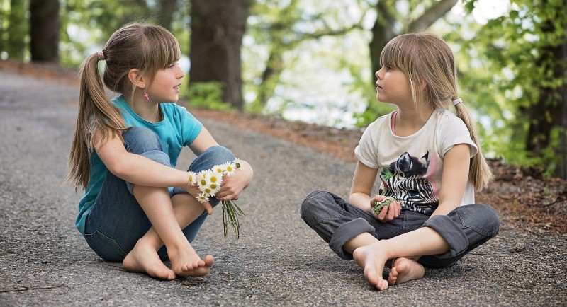 human-children-girl-talk-entertainment-road-away