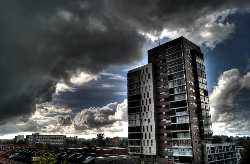 urban-high-rise-clouds-weather-storm-sunrays-sky