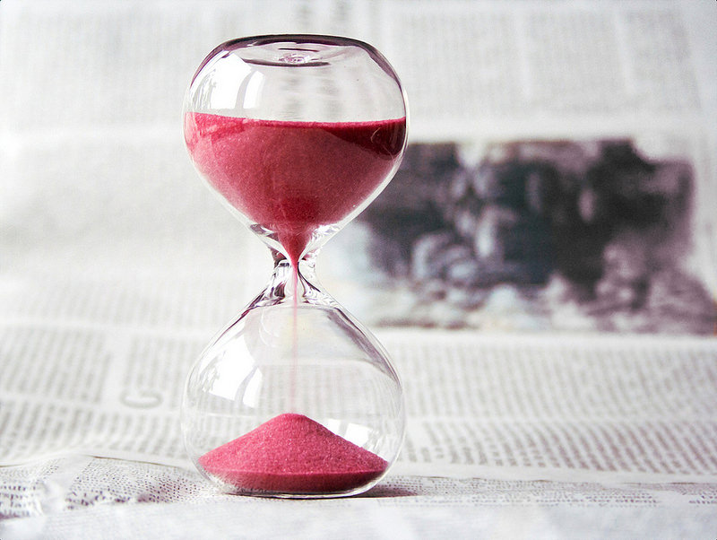 sandglass, time