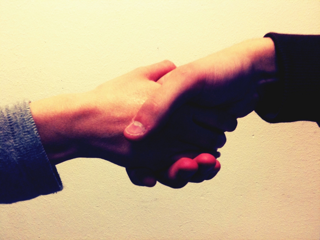 shake hands, goodbye