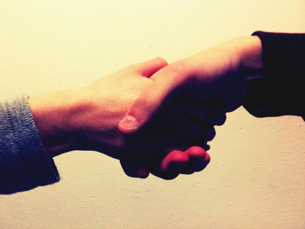 shake hands, goodbye