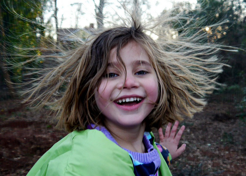 static electricity, women, girl